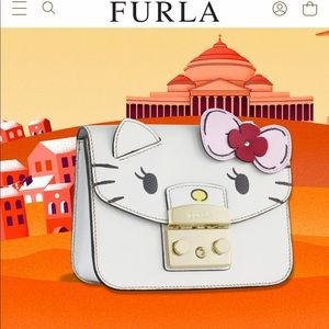 Furla limited edition hello kitty cross body bag